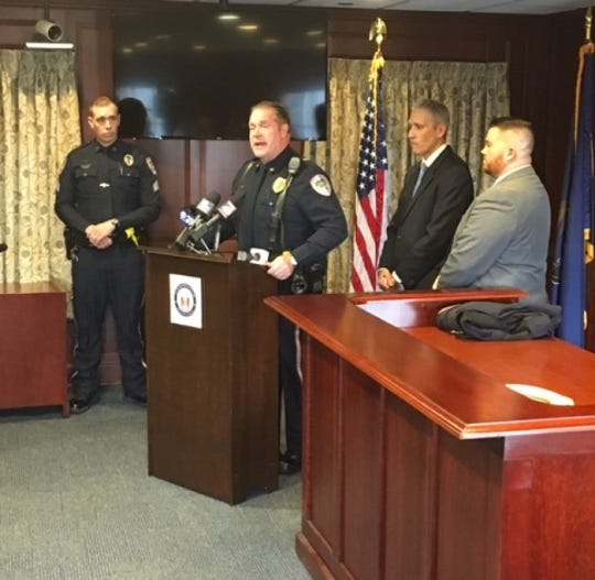 Lititz police chief Kerry Nye speaks at a news conference on Thursday, Dec. 6, 2018, announcing homicide charges for a 63-year-old woman in relation to the deaths of two Warwick High School students after an Oct. 26 crash.