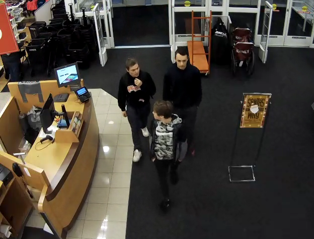 Three males suspected of a retail theft at the Kohl's, 200 Town Center Drive in West Manchester Township.