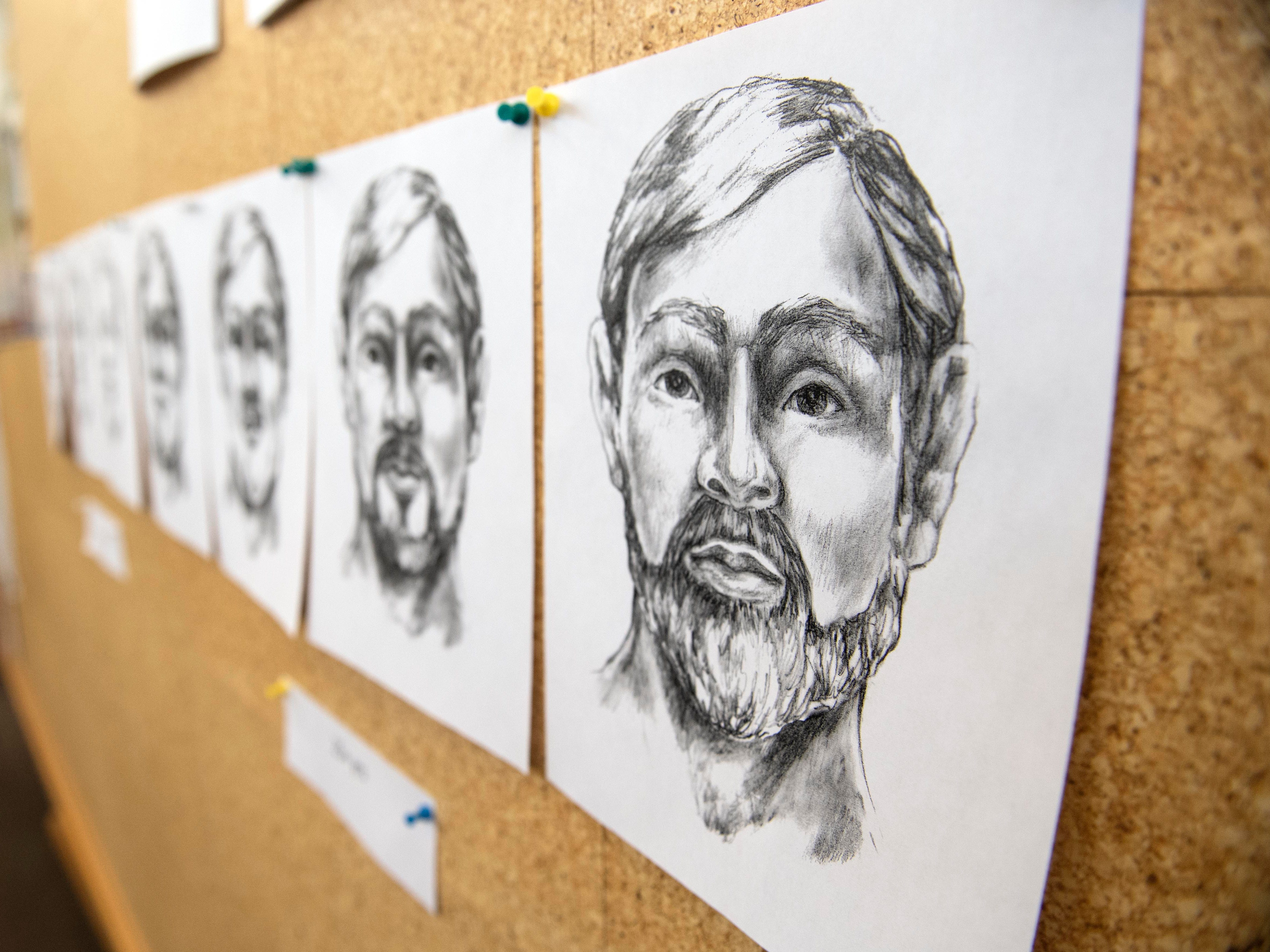 An artist's rendition of what the victim of a 2013 cold case homicide investigation might look like. The case began after skeletal remains were found at the intersection of Loucks and Haviland roads in November 2013. West Manchester Township Police held a press conference to show the new artist's drawings, Thursday, Dec. 6, 2018, along with a clay bust and a 3D-printed skull of the victim.