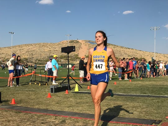 South Tahoe junior Carisa Buccholz had the fastest time for the girls at the state meet last month