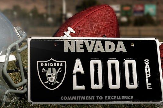 Nevada Raiders Plate 1