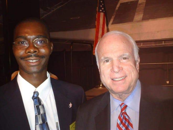 Don Dike-Anukam with Sen. John McCain.