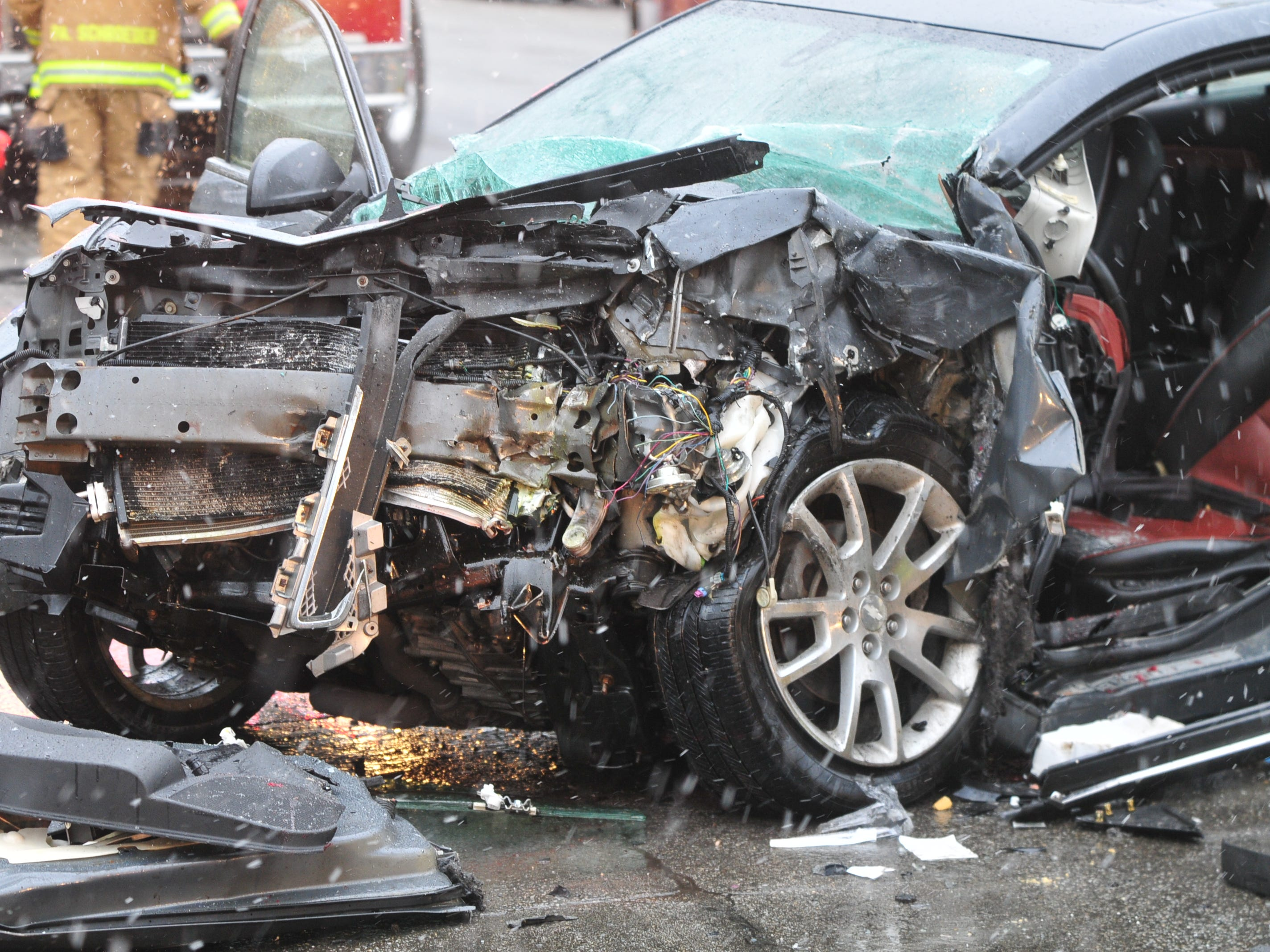 A Chevrolet Malibu was severely damaged Thursday during an accident on Richmond Avenue.