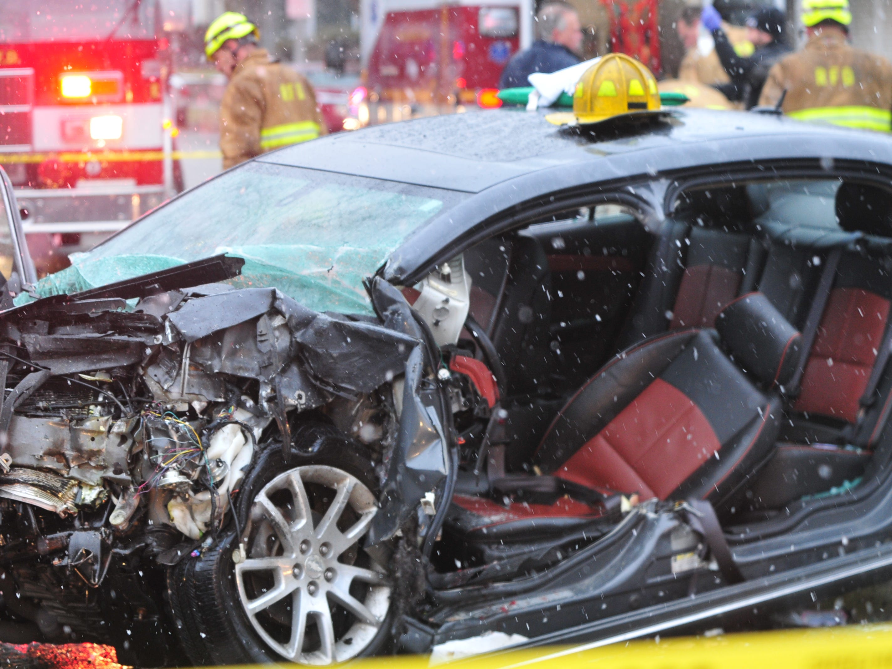 The driver of a Chevrolet Malibu was extricated from the vehicle by Richmond Fire Department personnel Thursday.