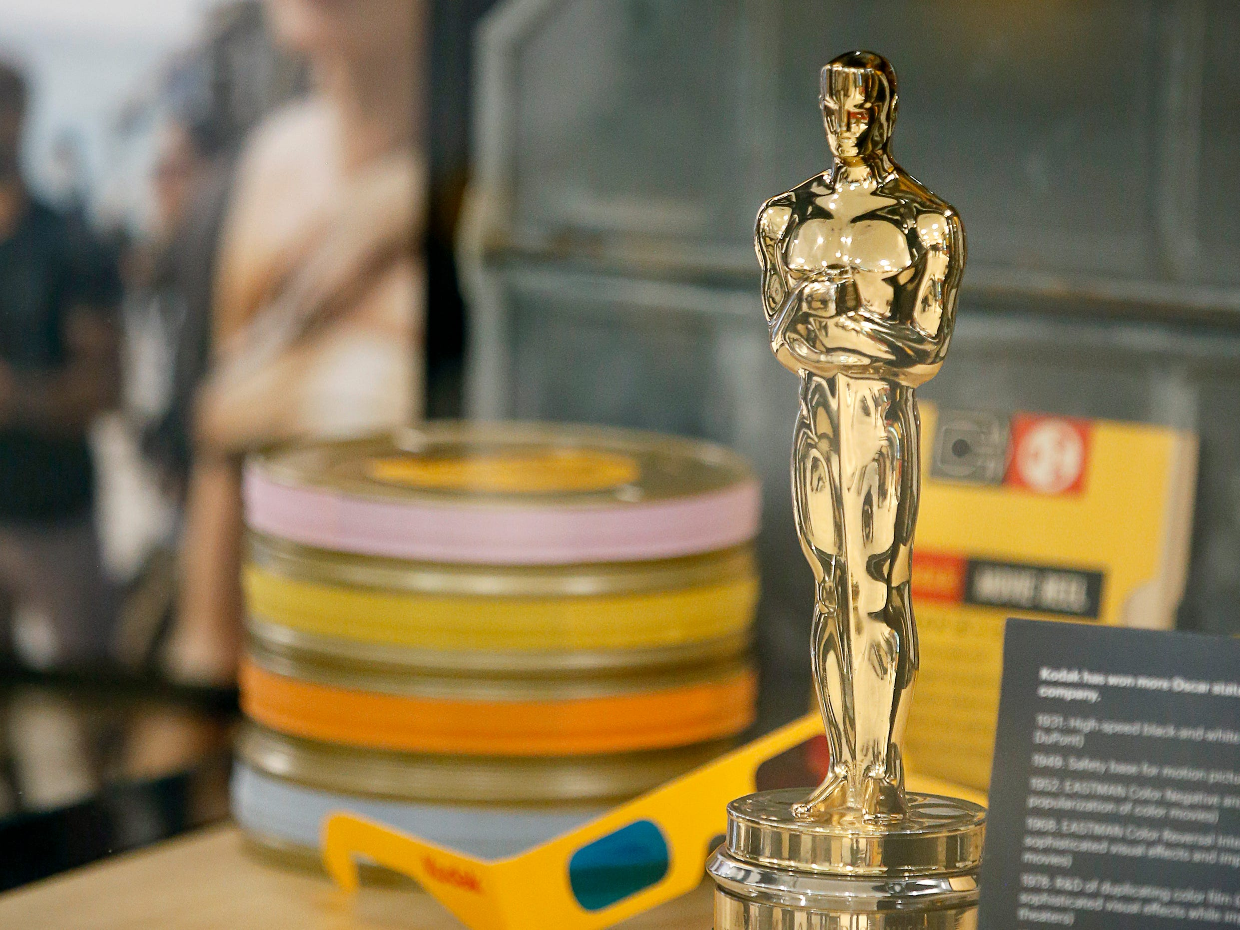 Kodak has won more Oscar statuettes than any other non-studio company, one of them seen here on display at the Kodak Visitor Center Grand.