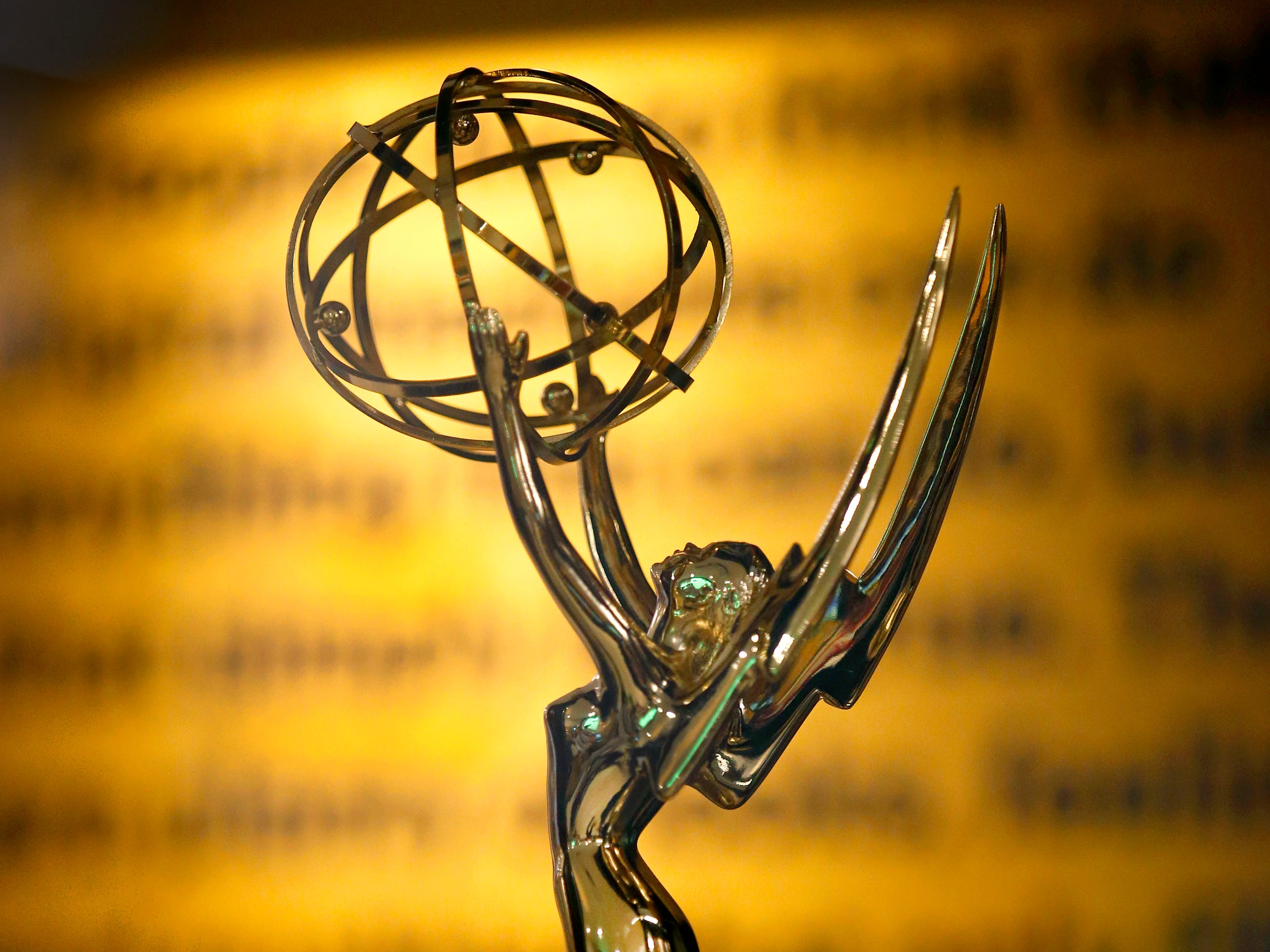 One of Kodak's Emmy Awards on display at the Kodak Visitor Center.