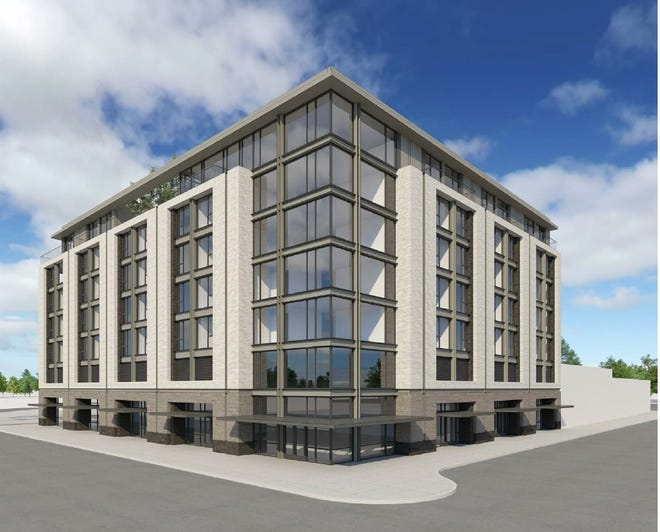 A conceptual rendering of a proposed $43 million hotel in downtown Salem by TVA Architects, a Portland, Oregon-based design firm working on the proposal.