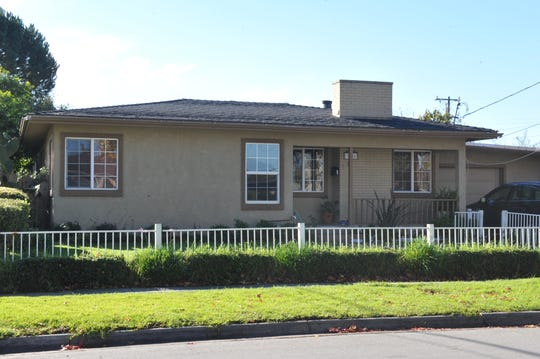 The home where Casamiro Carrillo, 73, is accused of sexually abusing children at his wife's daycare center, located next door to Monterey Park Elementary School in Salinas.