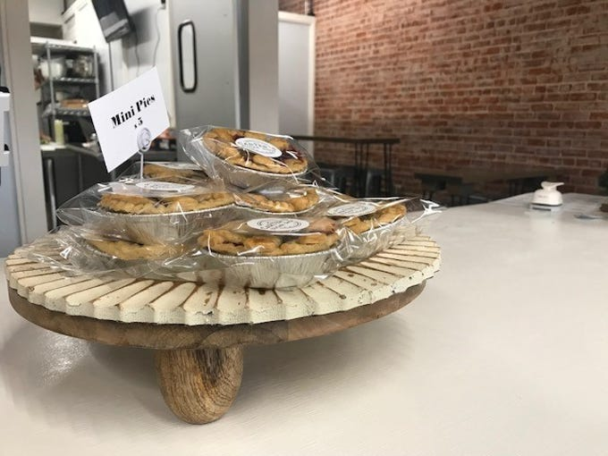 Mini pies at Carter's Sugar Shop, 28 N. Chadbourne St., on Thursday, Dec. 6, 2018.