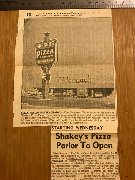 The first article in the Stanadard-Times archives about Shakey's was published on Dec. 24, 1966, announcing the restaurant would open the following Wednesday.