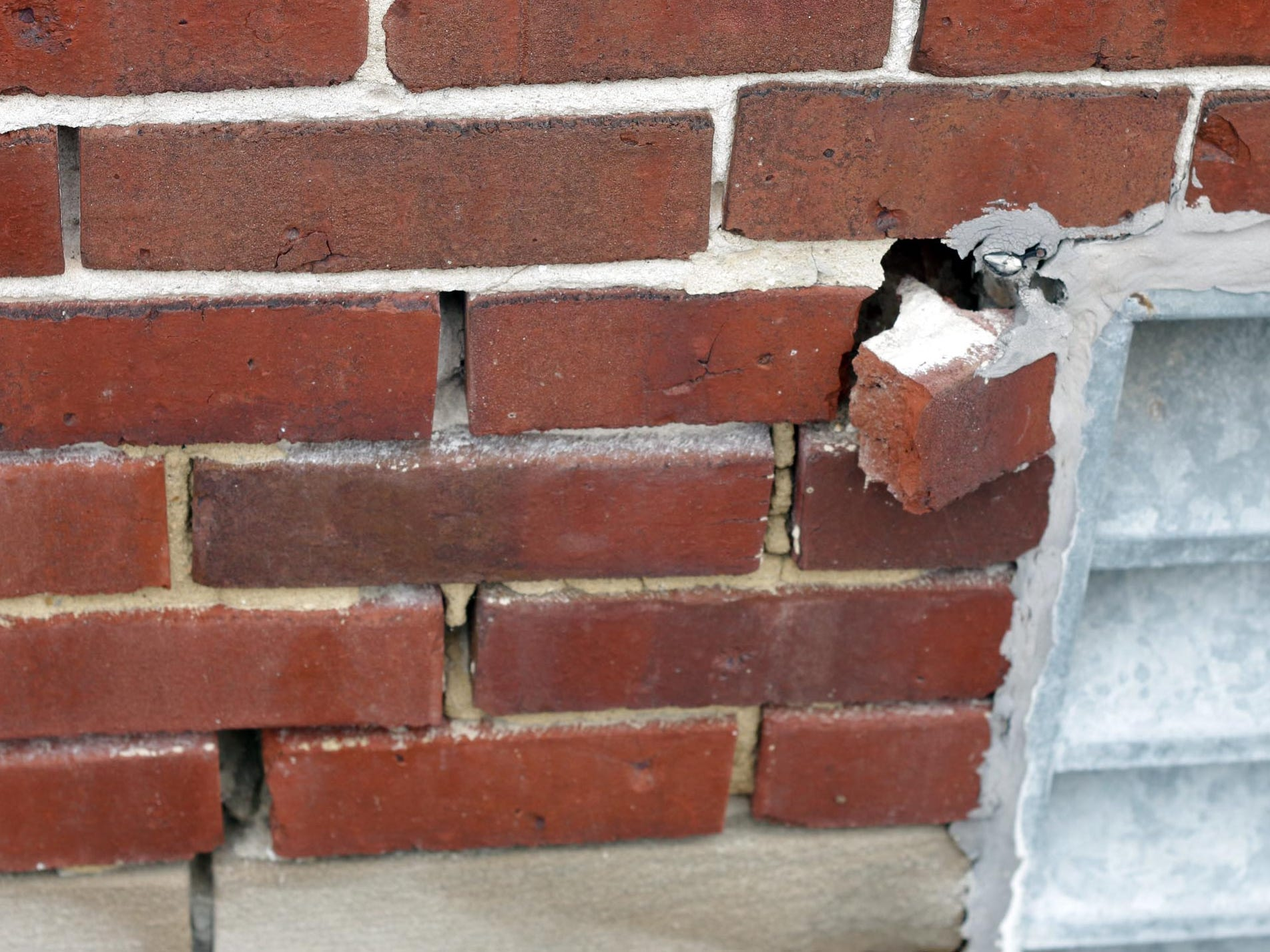 Bricks in need of tuck pointing as seen, Thursday October 2, 2014, at city hall in Sheboygan, Wis. In 1915, building was to cost $74,584. Another $75,000 was used in finally completing it.  Today the 2018 renovations have a budget of 10.5 million dollars.