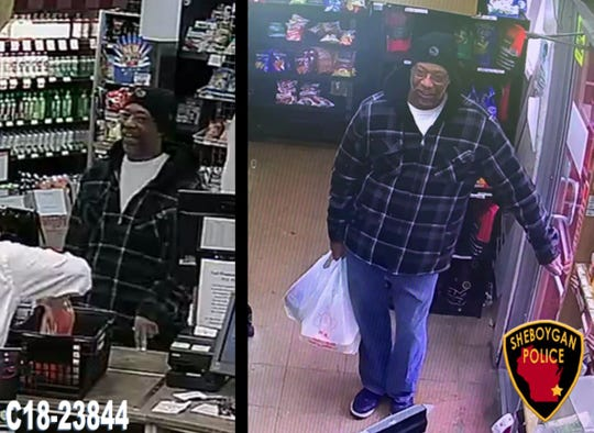 A suspect in a case of credit card fraud in Sheboygan.