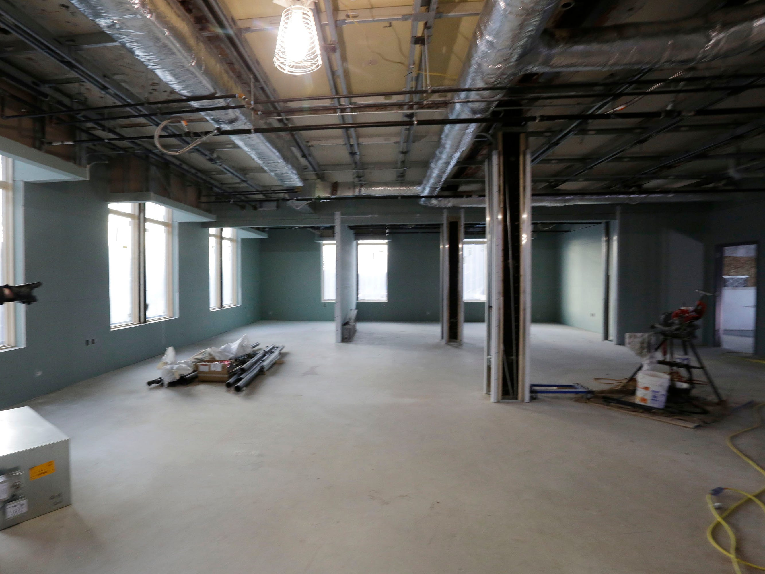 Inside Sheboygan City Hall during a tour of the yet to be completed renovations, Wednesday, December 5, 2018, in Sheboygan, Wis. Officials said the project should be completed sometime next year.