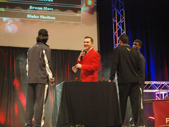 The Big Game Show pits football players against each other in a Family Feud-style competition.