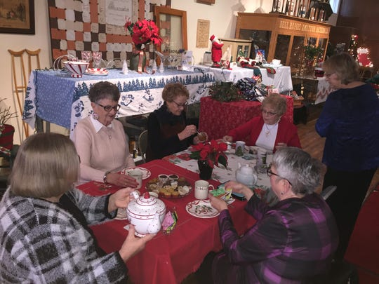 Tea time at the Dell Rapids Museum is part of Christmas at the Dells.