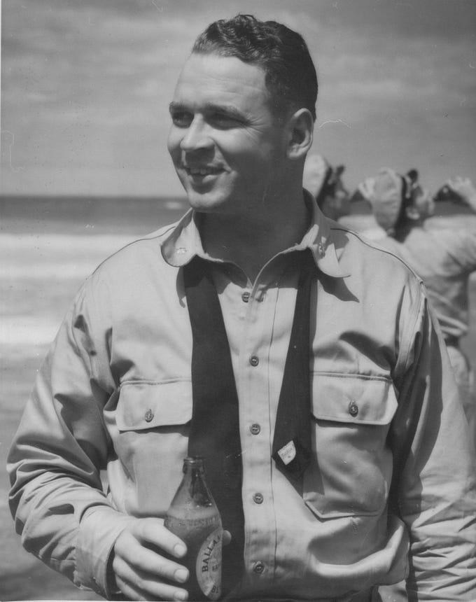 Cleo J. Dobson, U.S. Navy Carrier Pilot World War II.