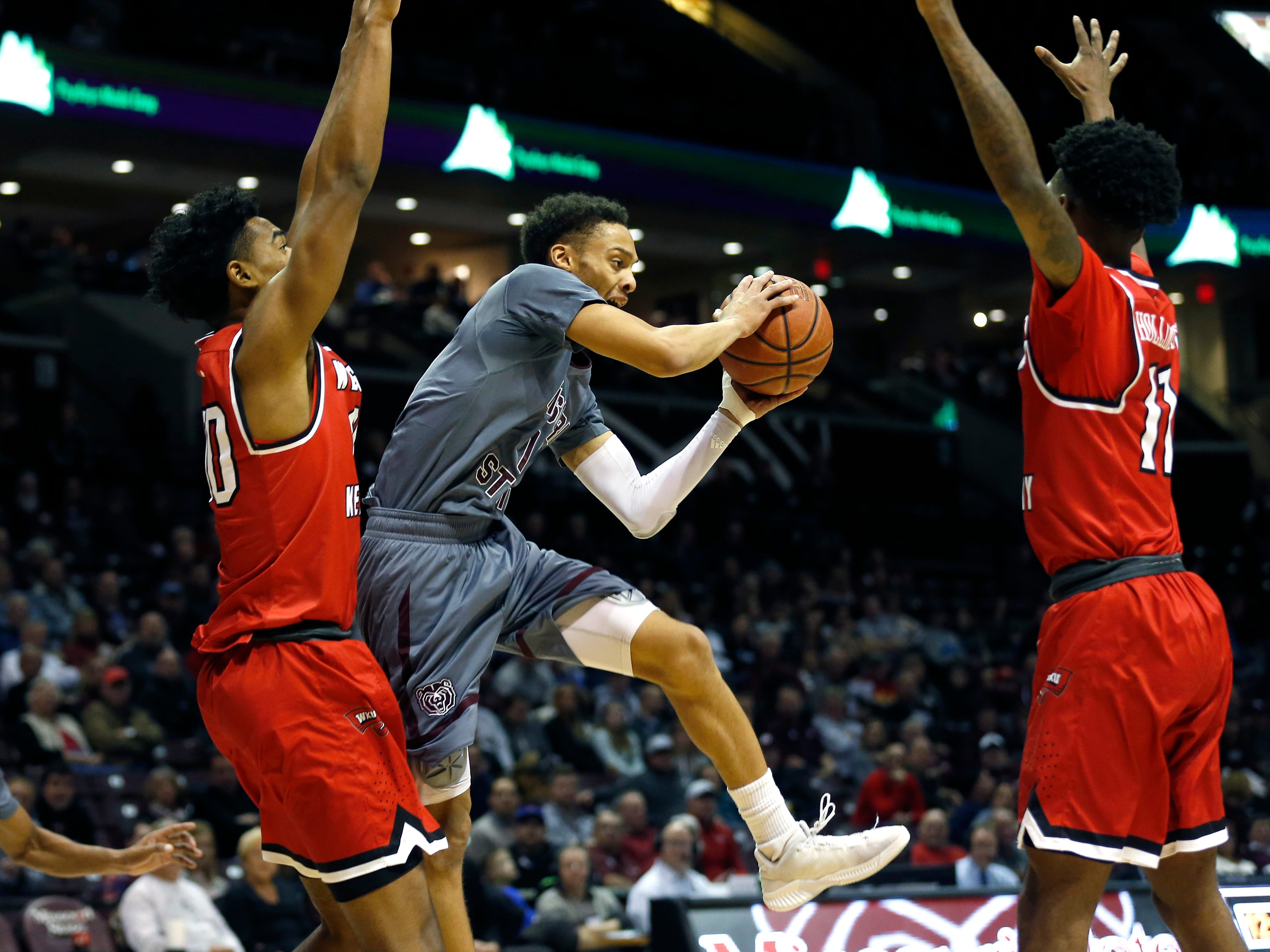 The Missouri State Bears take on the Western Kentucky Hilltoppers at JQH Arena on Wednesday, Dec. 5, 2018.