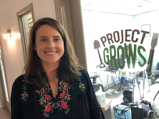Jenna Clarke, executive director of Project Grows, at her office in the Staunton Innovation Hub in Staunton.
