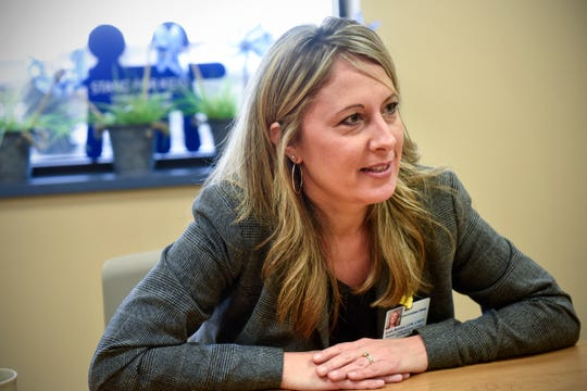Central Minnesota Child Advocacy Center Director Katie Boecker talks about the mission of the center Thursday, Dec. 6, in Sartell.