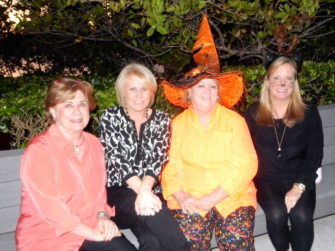 Barbara Parent, left, Marni Parent Howder, Nancy Gollnick and Jenny Frederick at the Exchange Clubs Halloween Party.