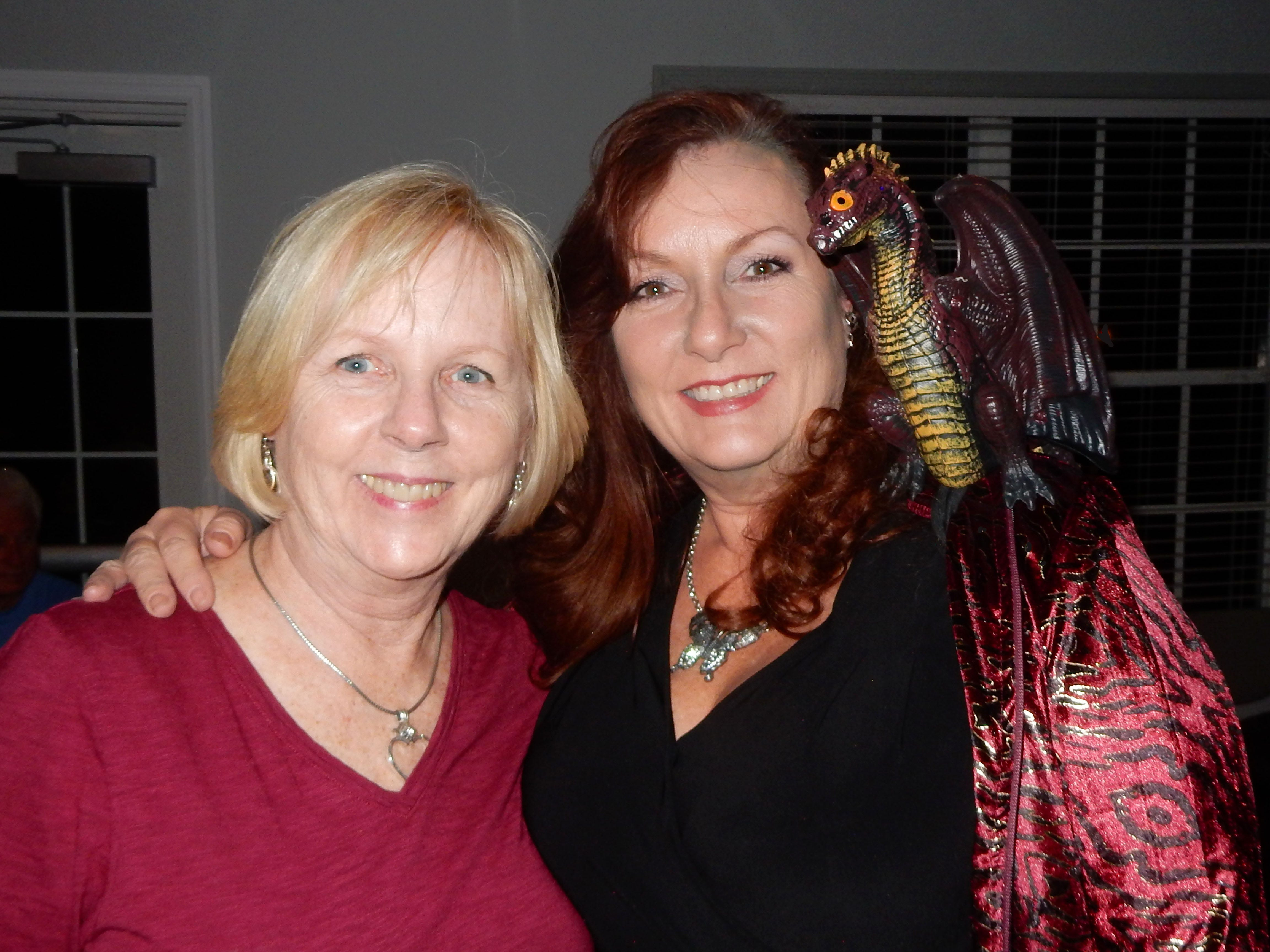 Leslie Spurlock, left, and Cindy Jewett at the Exchange Clubs Halloween Party.