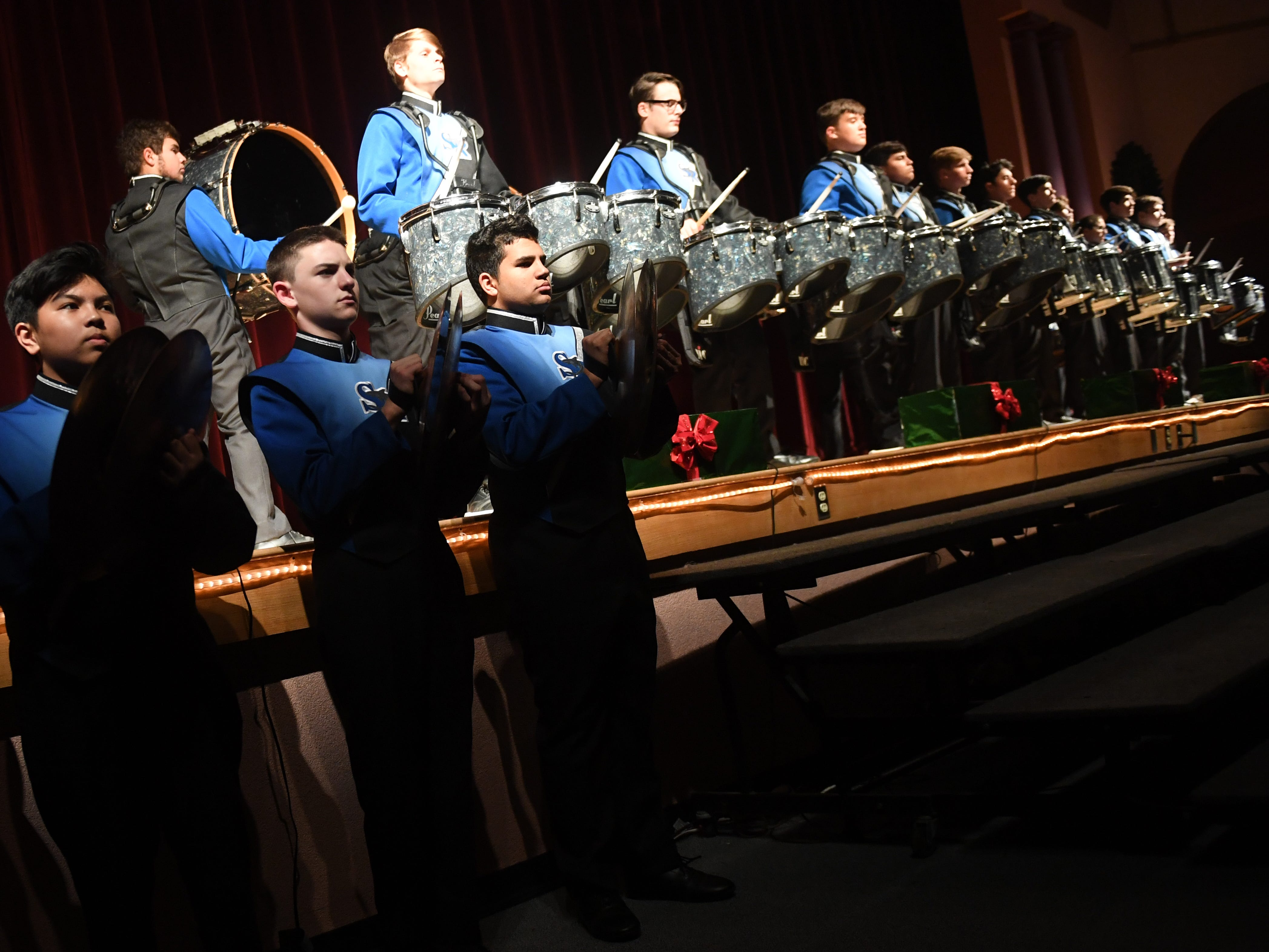 Students of the Sebastian River High School Music Department run through a full dress rehearsal of this year's Prism Concert Wednesday, Dec. 5, 2018 at the school. The Prism Concert is Sebastian River High School Music Department's largest fundraising event of the year. The 2-hour concert showcases the talents of the Concert Bands, Jazz Band, the Flag and Dance Line and the SRHS Choral Program. The Prism Concert is traditionally held the first or second week of December.