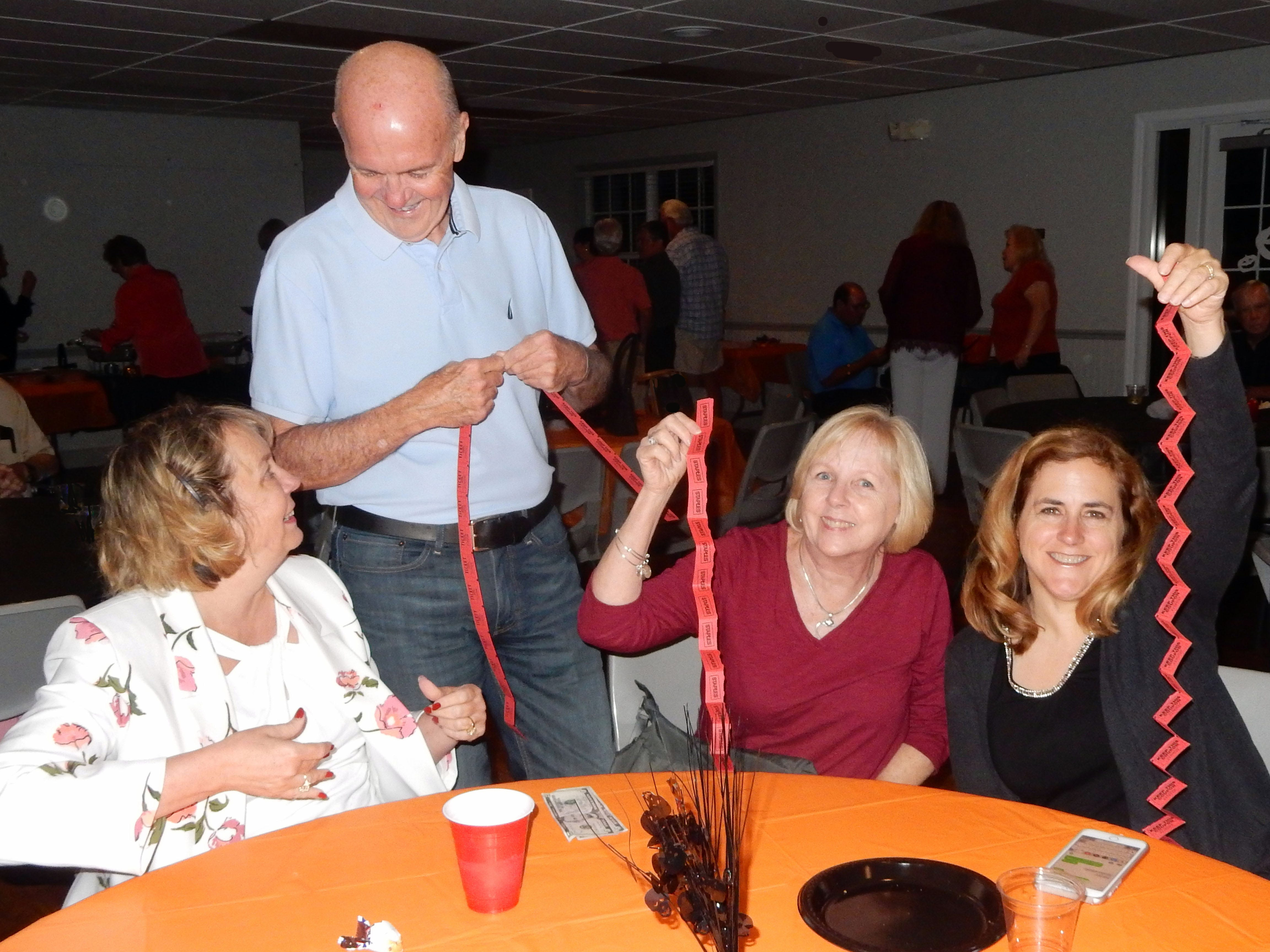 Kim Prado, left, Joe Walsh, Leslie Spurlock and Laurie Collings at the Exchange Clubs Halloween Party.