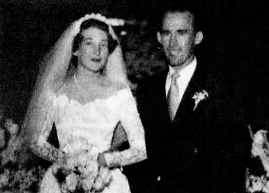 Shirley and Forrest (Richard Bellew), their wedding in June 1951 in California.