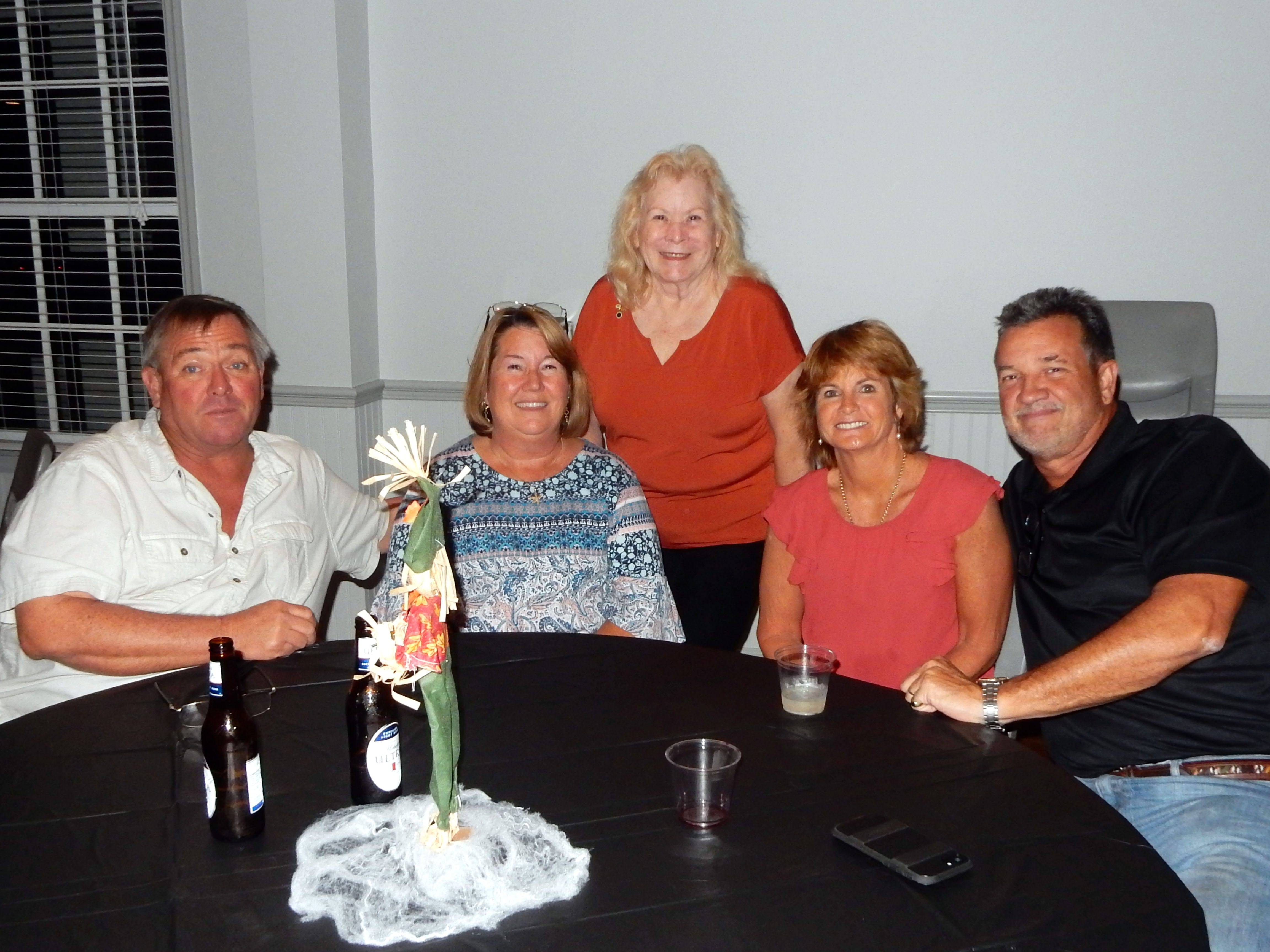 Lesa Darnell, left, Steve Darnell, Judy Landgrave, Robert Taylor and Mary Taylor at the Exchange Clubs Halloween Party.