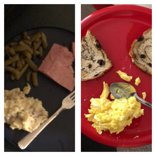 Deishan Layne said this was his meager breakfast and dinner at The Nation Christian Academy.