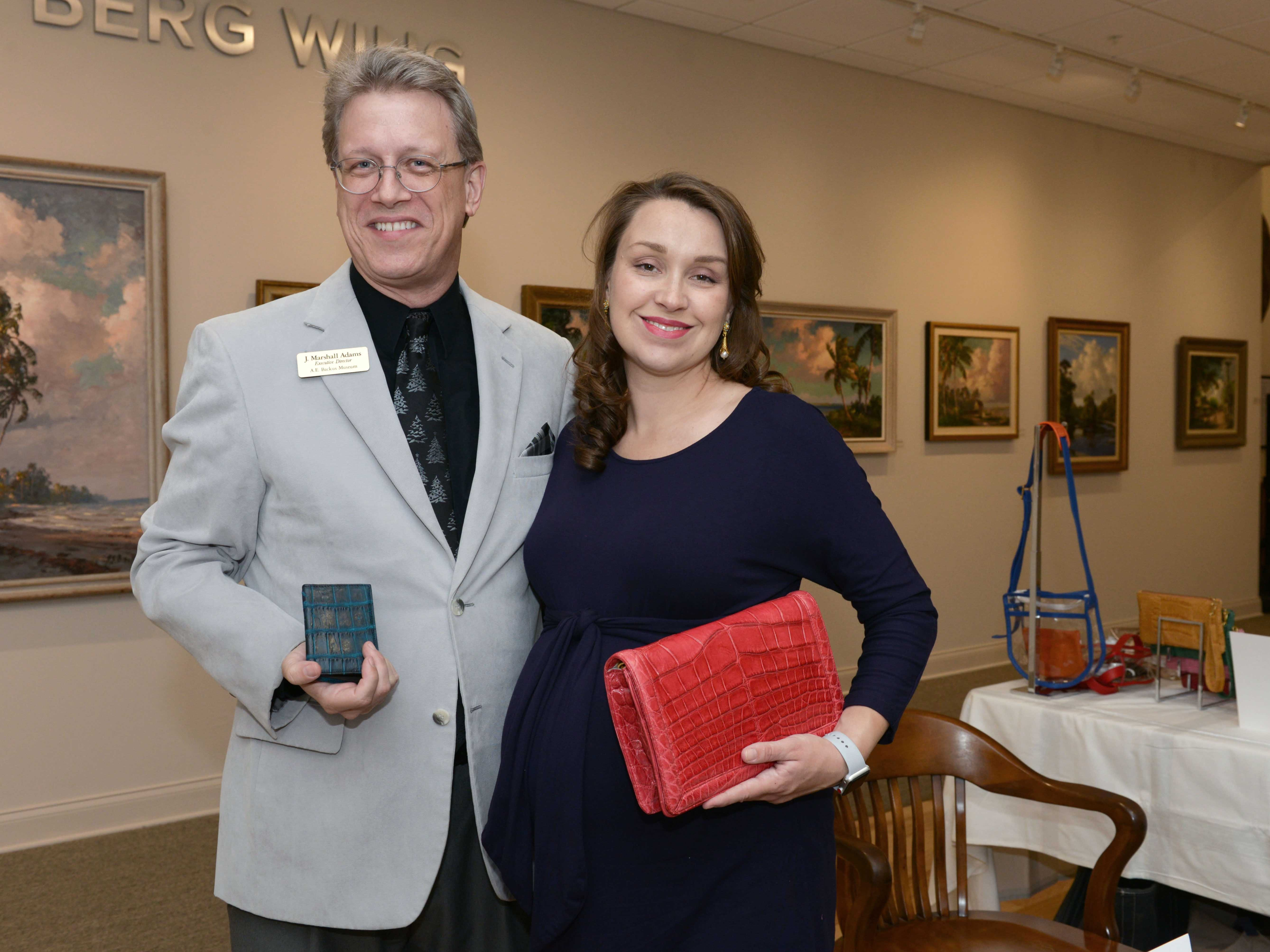 A.E. Backus Museum Executive Director J. Marshall Adams and Shirelle Sioui, chief creative officer of Casa del Rio Collection.