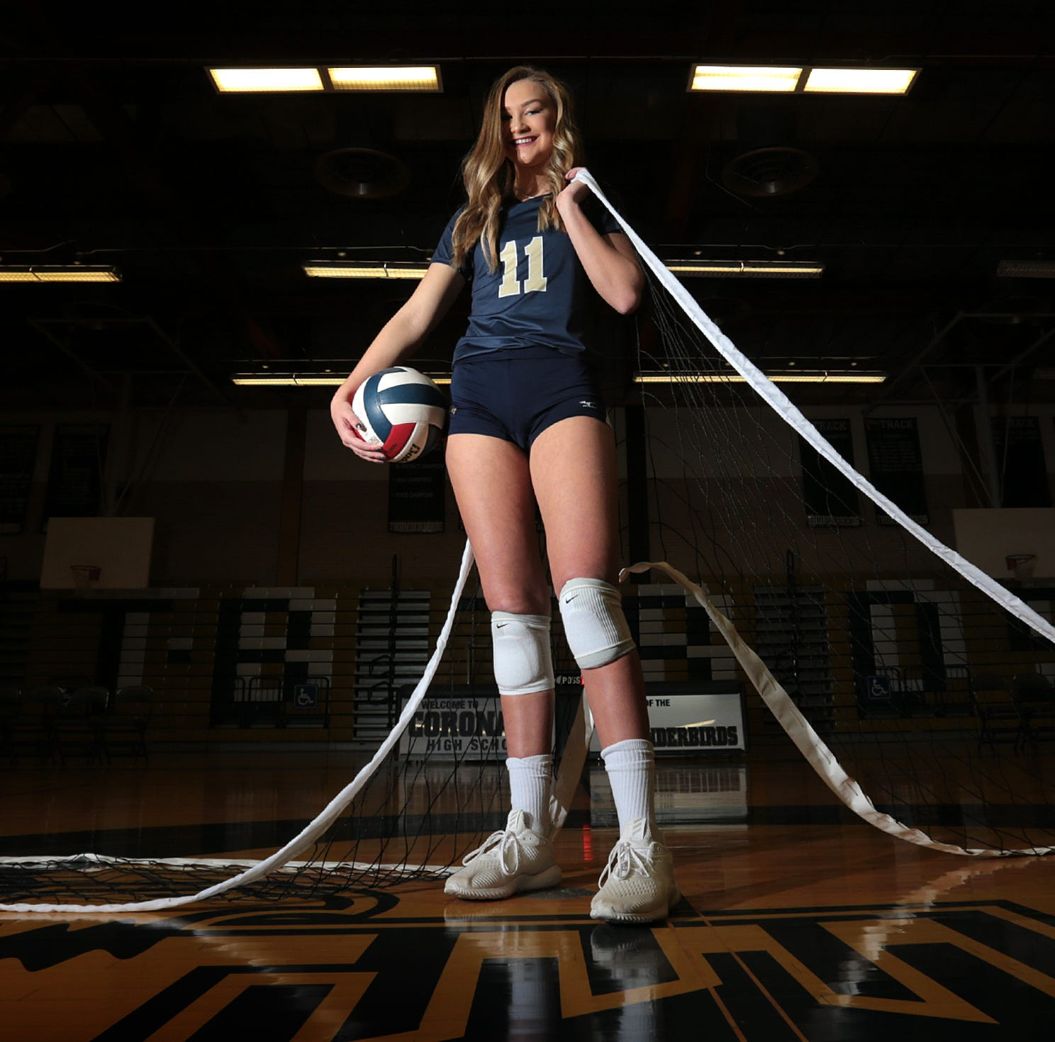 Coronado senior Campbell Bowden is this year's El Paso Times' High School Volleyball Player of the Year, the third straight year she has received the award.