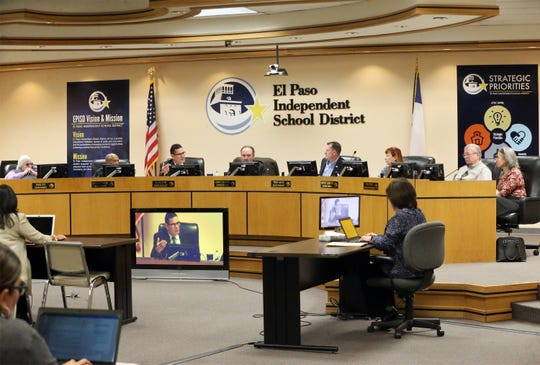 The El Paso Independent School District board of trustees held a workshop on school closures recently at district headquarters.