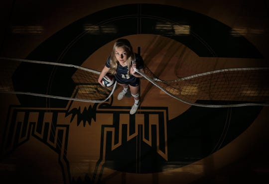 Coronado senior Campbell Bowden is this year's El Paso Times' High School Volleyball Player of the Year. She will take her skills to Baylor University.