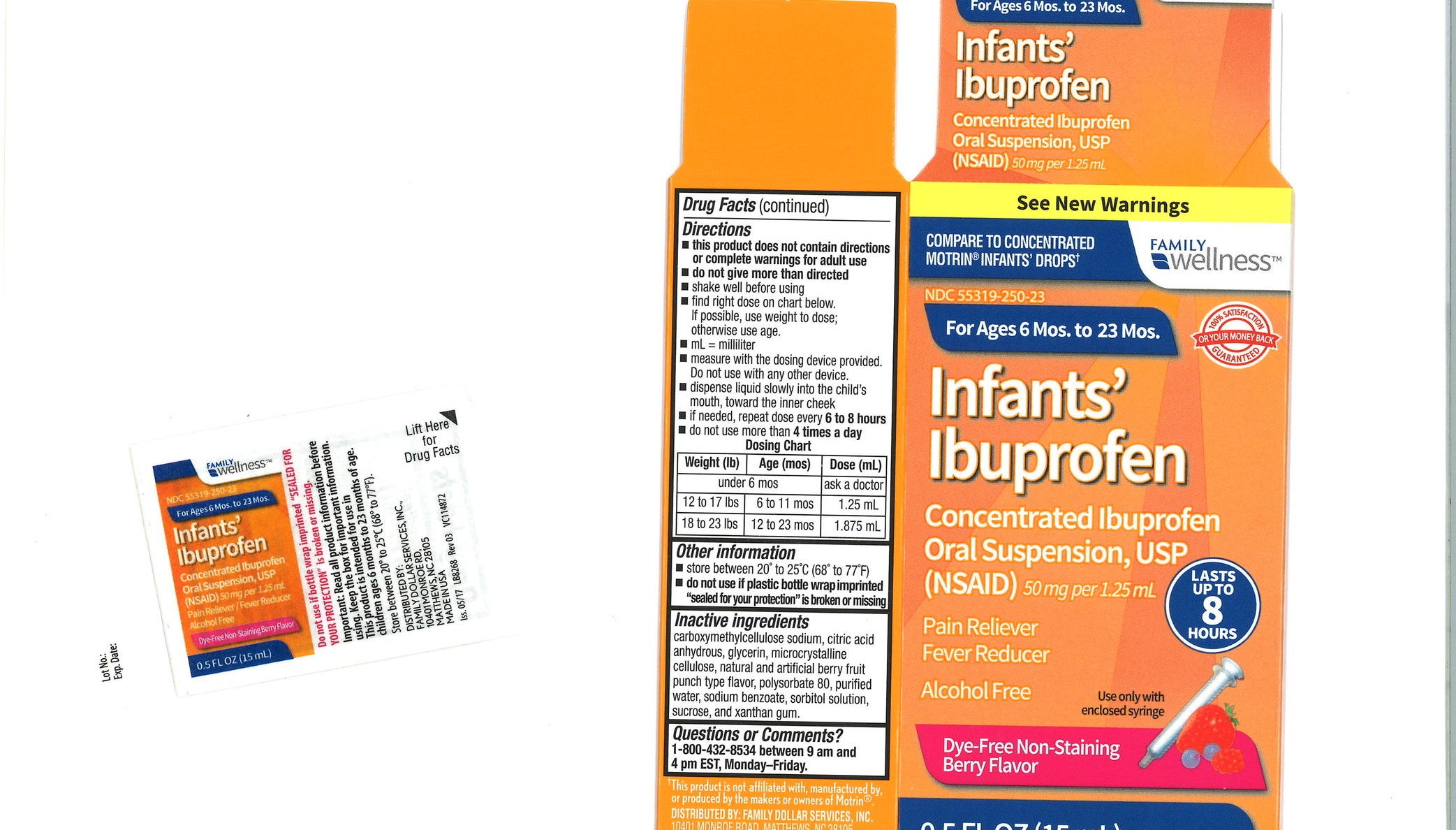 Tris Pharma, Inc. has voluntarily recalled three lots of Infants' Ibuprofen due to potentially higher concentrations of ibuprofen. (PRNewsfoto/Tris Pharma, Inc.)