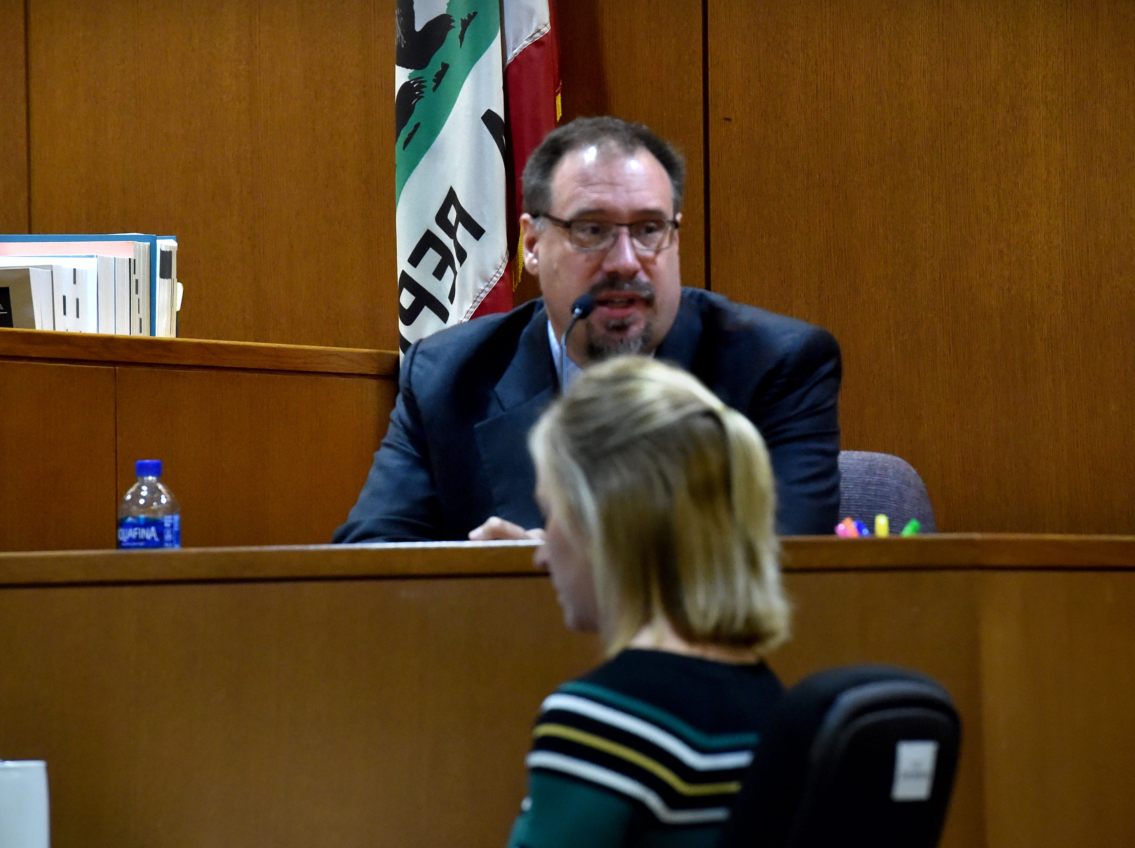 Dr. Joseph Vlaskovits offers defense testimony about postpartum mental health disorders during the trial of Mayra Chavez on Thursday. Chavez has pleaded not guilty to second-degree murder charges in the death of her 3-year-old daughter Kimberly Lopez.