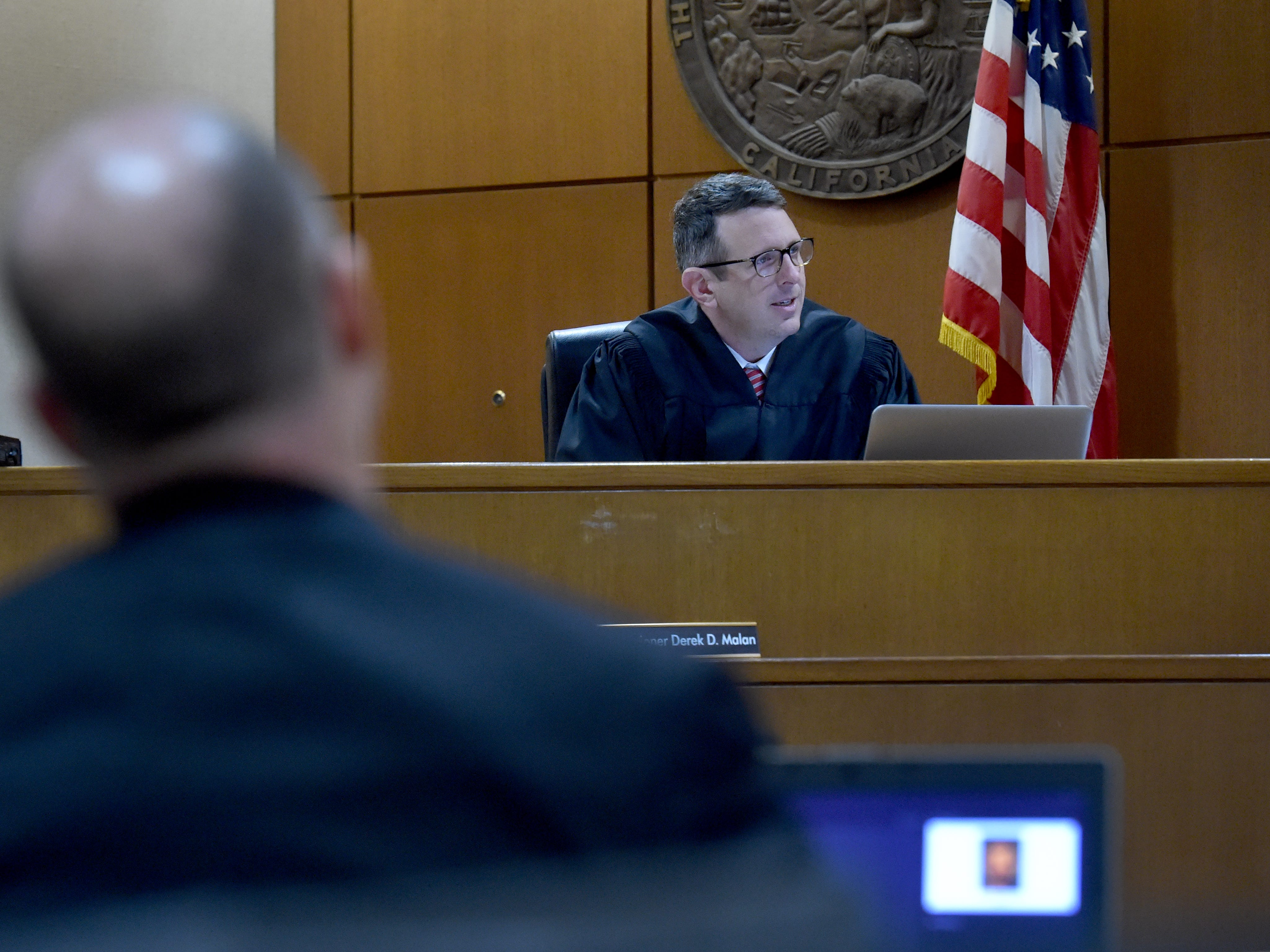 Commissioner Derek Malan speaks with the jury panel on Thursday after the defense rested in the trial of Mayra Chavez. Chavez has pleaded not guilty to second-degree murder charges in the death of her 3-year-old daughter Kimberly Lopez.