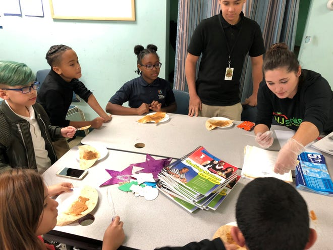 """Boys & Girls Club of Vineland members participated in a """"Cooking Matters"""" session through the Southern New Jersey Community Food Bank. Through this program, which is part of the club's Triple Play Program which focuses on mind, body and soul, members are learning to make better choices regarding eating healthier foods."""