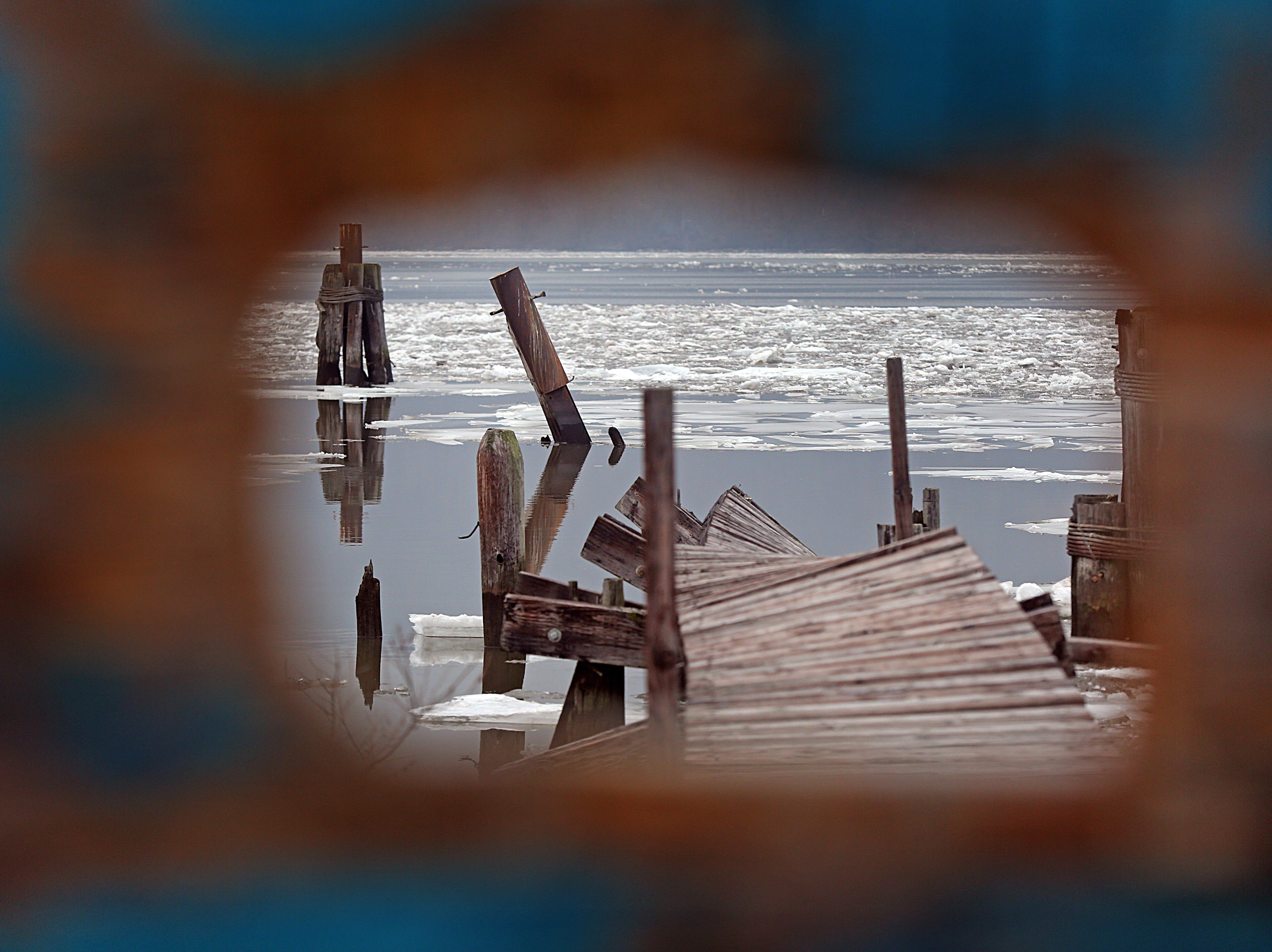 The view of the Hudson River from Fleischmann Pier in Peekskill Jan. 22, 2018.