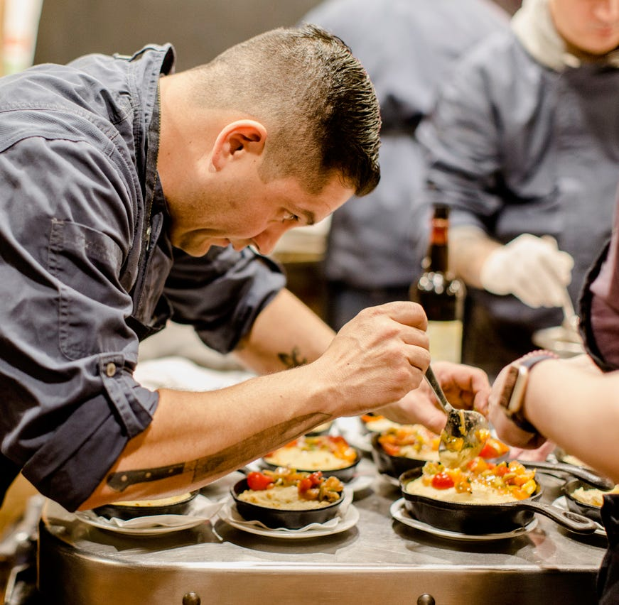 """Shawn Hubbell is  the chef behind the monthly """"Dinner At the Farm"""" at Soons Orchards in New Hampton, (they sell out almost immediately) and the architect of the insanely delicious wood-fired pizzas at Angry Orchard in Walden."""