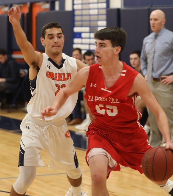 Tappan Zee beats Horace Greeley 49-46 during boys basketball game at Horace Greeley High School in Chappaqua Dec. 5, 2018.