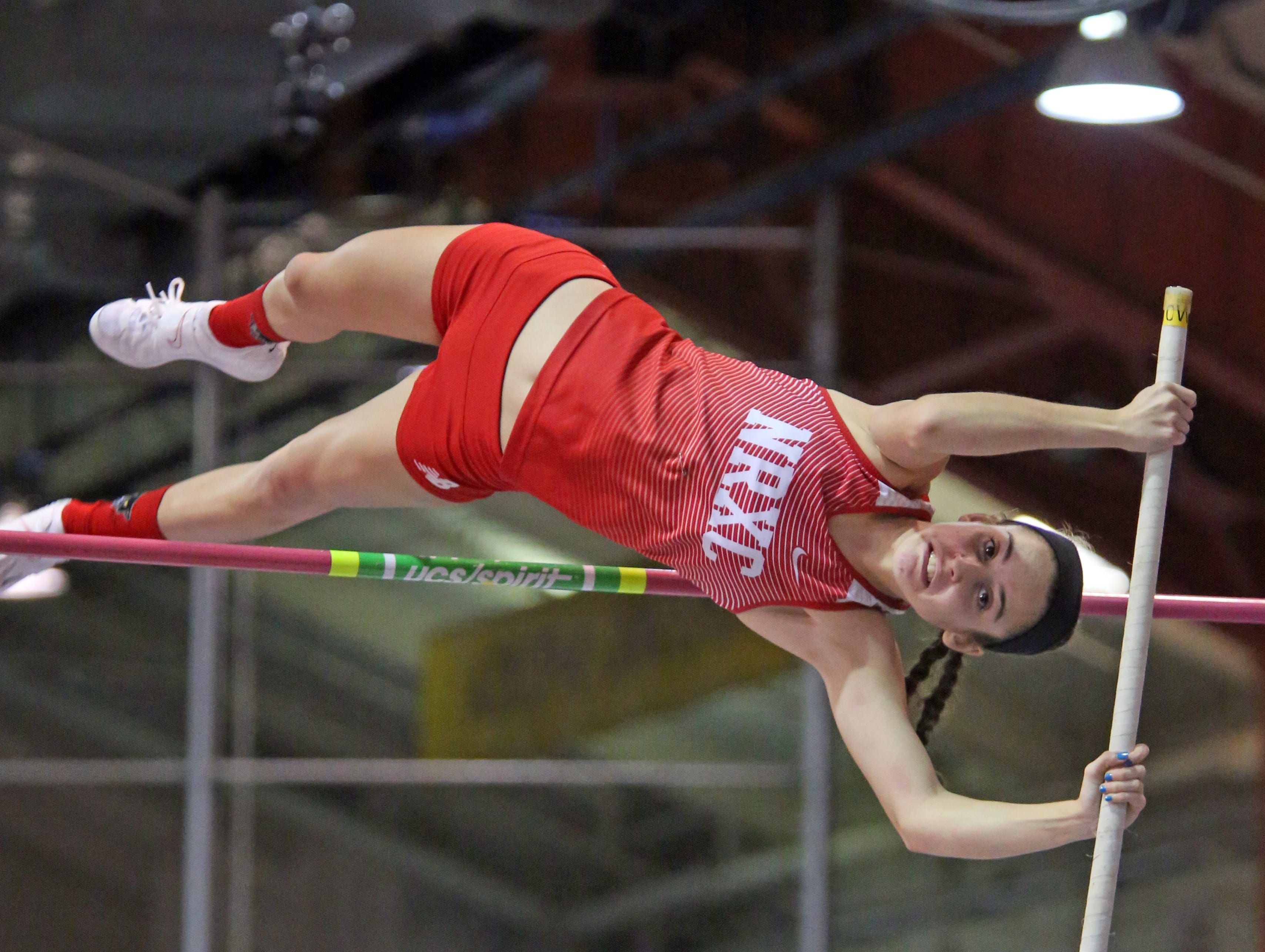 Section 1 State Track and Field Qualifier at The Armory in Manhattan Feb. 21, 2018.