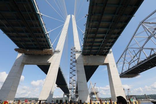 Under the Gov. Mario Cuomo Bridge on Sept. 4.