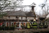 A small fire on the roof of the Bedford Post restaurant on Rt. 121 in Bedford Dec. 6, 2108. The restaurant is  co-owned by actor Richard Gere.