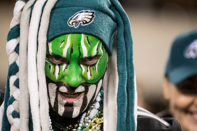 Eagles fans enjoy the game as the Eagles face the Washington Redskins Monday, Dec. 3, 2018 at Lincoln Financial Field.