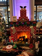 The new edible, holiday display in the lobby of the Hotel du Pont in Wilmington. Visitors can see until Jan. 9.