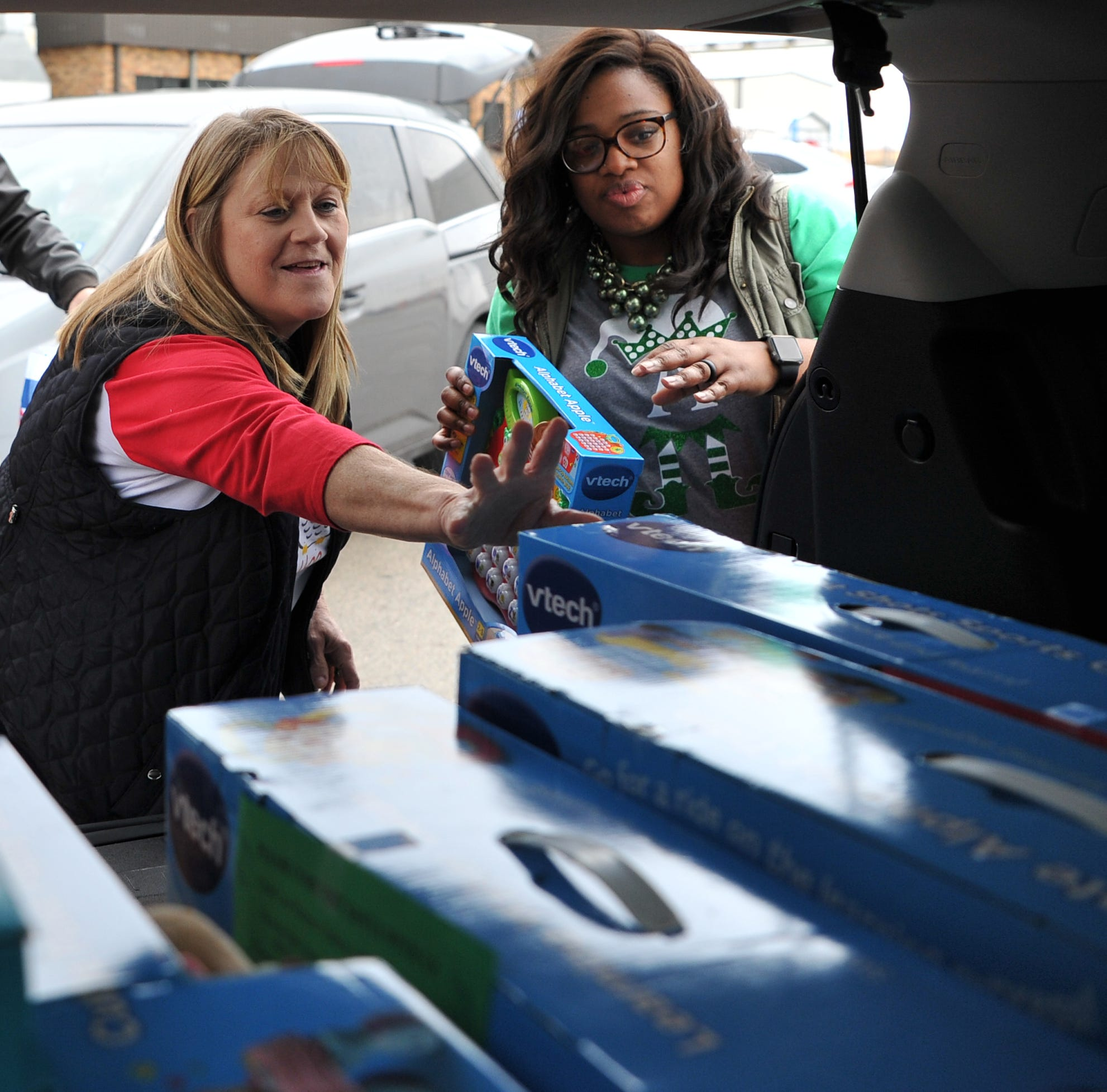 Watch: Wichita Falls Acronic employees help with Christmas for kids with Child Care Partners