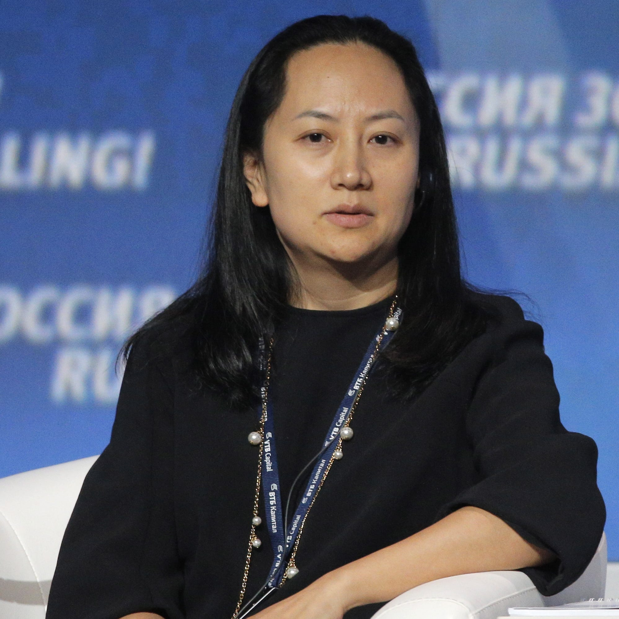 Meng Wanzhou, Chief Financial Officer of Huawei, is pictured attending the VTB Capital's 'RUSSIA CALLING' investment forum in Moscow.
