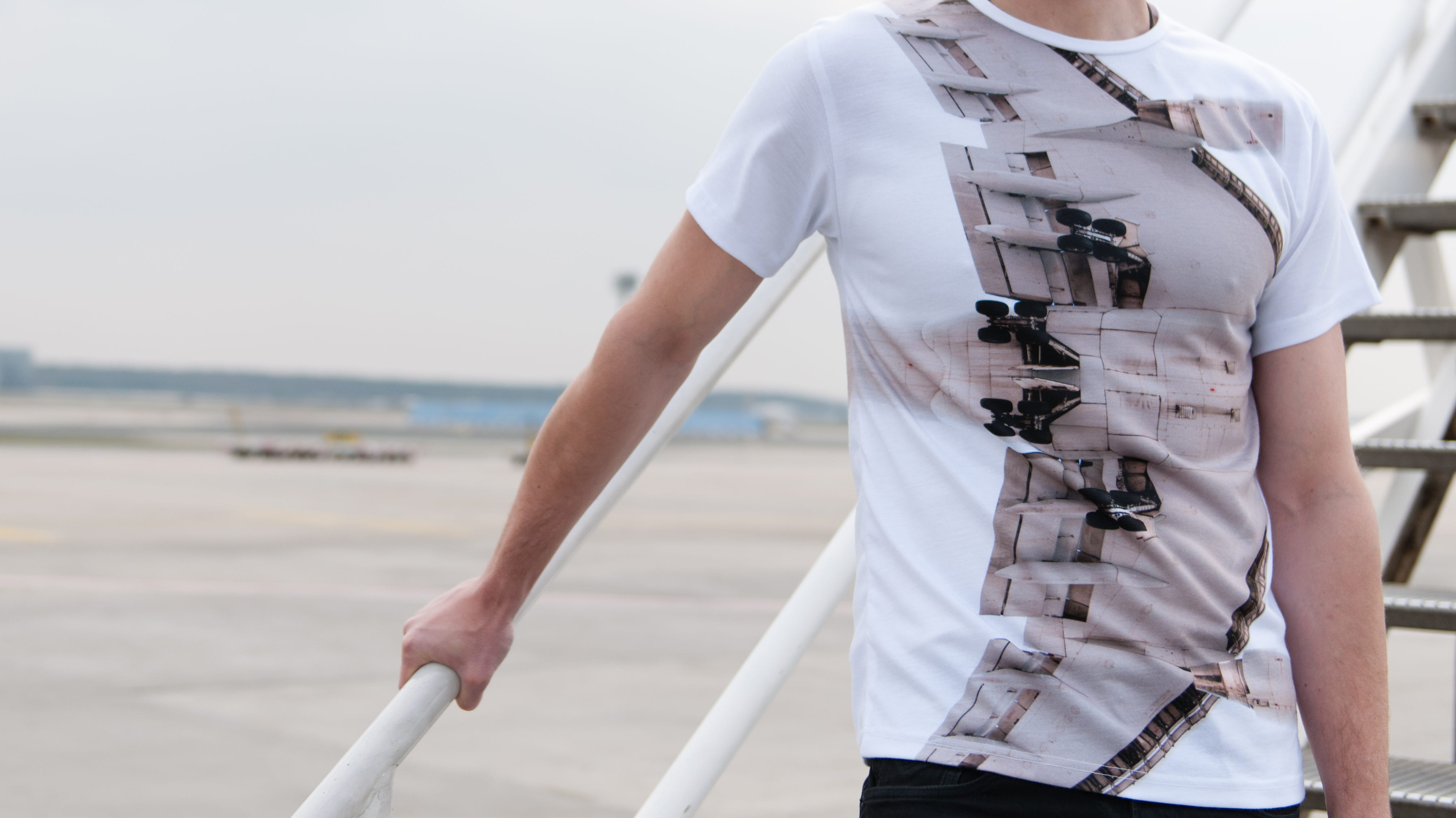 The 'AMS T-shirt' that's for sale as part of photographer Laird Kay's 'Very Plane Clothes' aviation-themed-line.