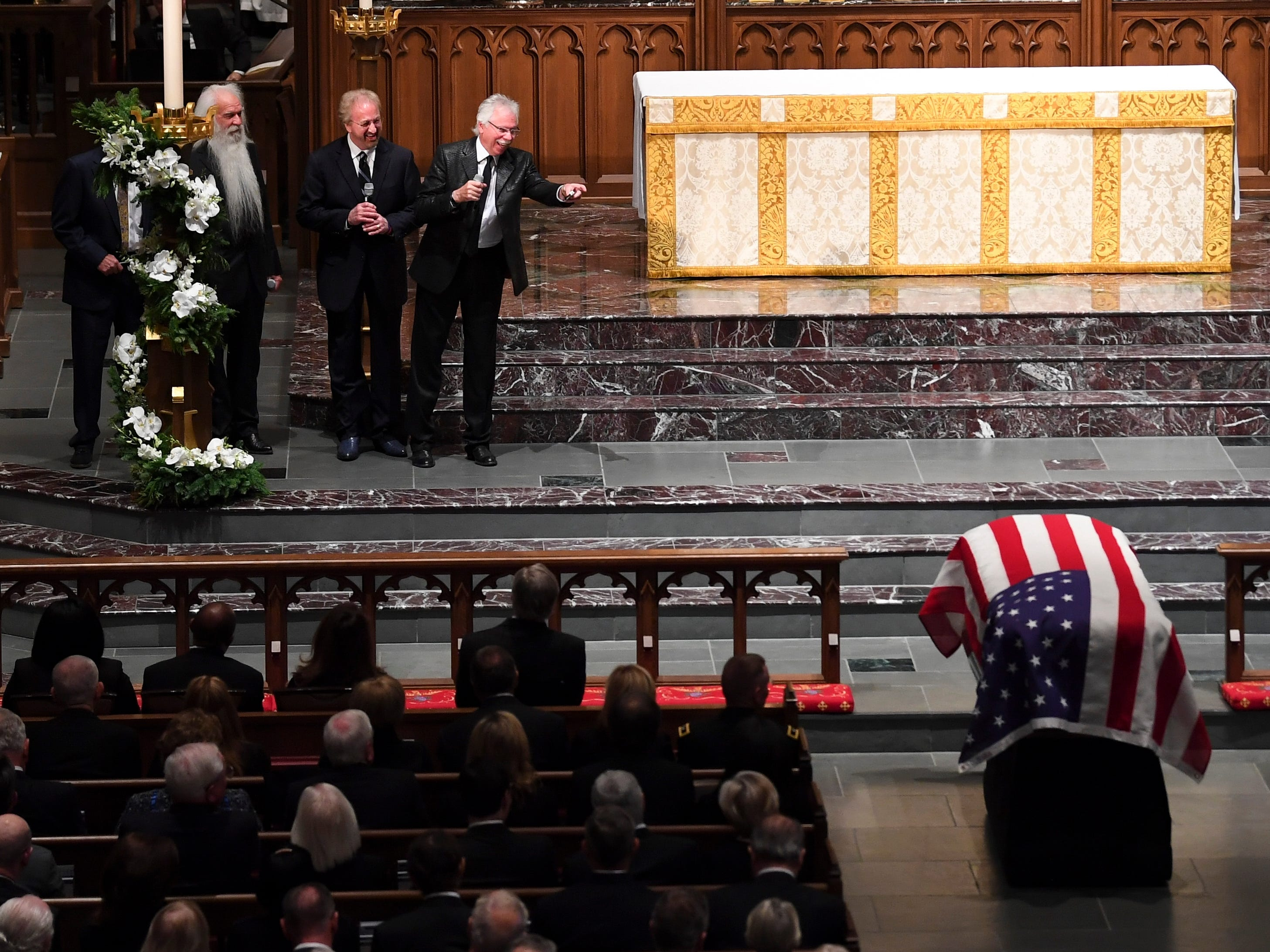 The Oak Ridge Boys appear at the funeral service for former President George H.W. Bush at St. Martin's Episcopal Church in Houston, Thursday, Dec. 6, 2018.
